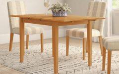 Villani Drop Leaf Rubberwood Solid Wood Pedestal Dining Tables