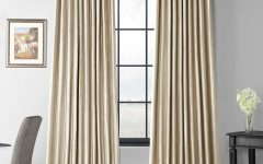 Faux Silk Extra-Wide Blackout Single Curtain Panels