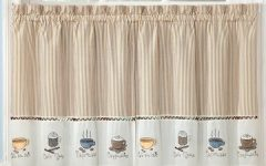 Coffee Drinks Embroidered Window Valances and Tiers