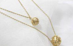 Gold Ball Pendants