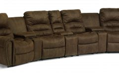 Curved Recliner Sofa