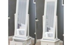 Full Length Free Standing Mirrors With Drawer