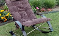 Folding Bentwood Rocking Chairs With Extendable Footrest and Removable Cover
