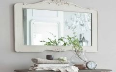 Large White Framed Wall Mirrors