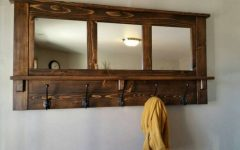 Wall Mirror with Coat Hooks