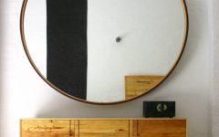 Leather Round Mirrors