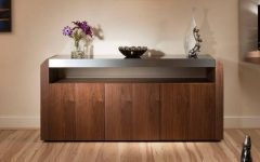 Walnut and Black Sideboard