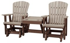 Center Table Double Glider Benches
