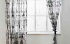 Grey Printed Curtain Panels