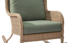 Outdoor Wicker Rocking Chairs with Cushions
