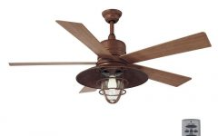Outdoor Ceiling Fans with Copper Lights