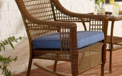 Brown Patio Rocking Chairs