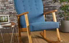 Harvey Mid Century Modern Fabric Rocking Chairs