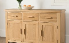 3-Door 3-Drawer Metal Inserts Sideboards