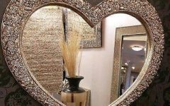 Heart Shaped Mirrors for Walls