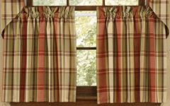 Red Primitive Kitchen Curtains