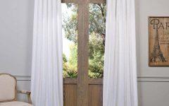 Heavy Faux Linen Single Curtain Panels