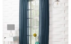 Ladonna Rod Pocket Solid Semi-Sheer Window Curtain Panels