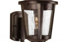Verne Oil Rubbed Bronze Beveled Glass Outdoor Wall Lanterns
