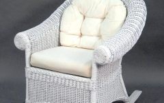 White Wicker Rocking Chair for Nursery