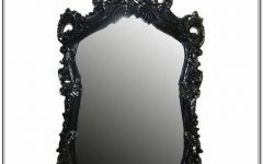 Large Black Ornate Mirrors