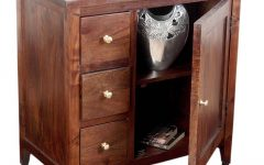 Small Dark Wood Sideboard