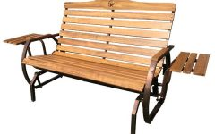 Iron Grove Slatted Glider Benches