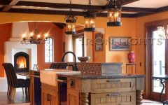 Wrought Iron Pendant Lights for Kitchen