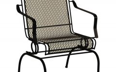 Wrought Iron Patio Rocking Chairs