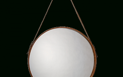 Round Leather Mirrors