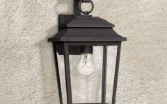 Socorro Black Outdoor Wall Lanterns