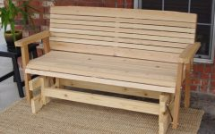 Cedar Colonial Style Glider Benches