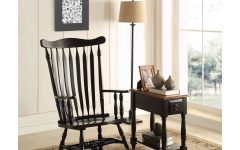 Black Rubberwood Rocking Chairs