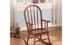 Tobacco Brown Kids Rocking Chairs