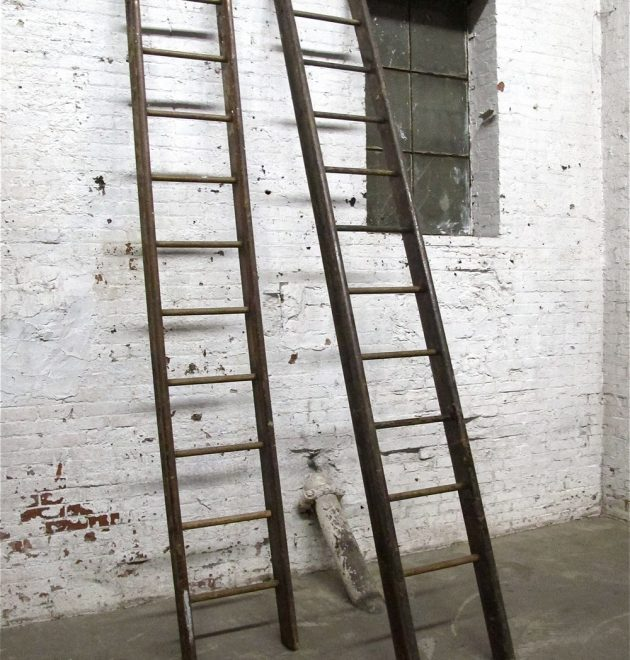 Wooden Library Ladders