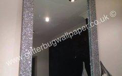 Silver Glitter Mirrors