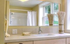 Large Frameless Bathroom Mirrors