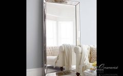 Silver Floor Standing Mirrors