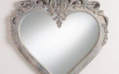 Large Heart Mirrors