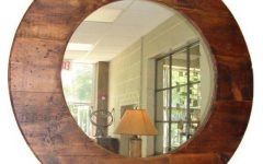 Large Round Wooden Mirrors