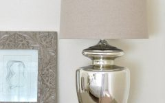Silver Table Lamps for Living Room