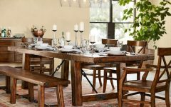 Rustic Mahogany Extending Dining Tables