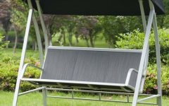 Outdoor Pvc-Coated Polyester Porch Swings With Stand