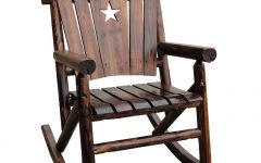 Wooden Patio Rocking Chairs