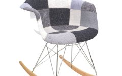 Twill Fabric Multi Rocking Chairs With Eiffel Legs