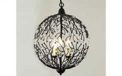 Wrought Iron Light Pendants
