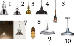 Industrial Looking Pendant Lights Fixtures
