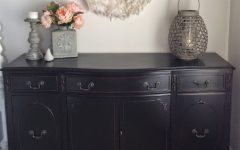 Satin Black & Painted White Sideboards