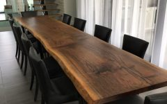 Walnut Finish Live Edge Wood Contemporary Dining Tables