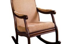 Liverpool Classic Style Rocking Chairs in Antique Oak Finish